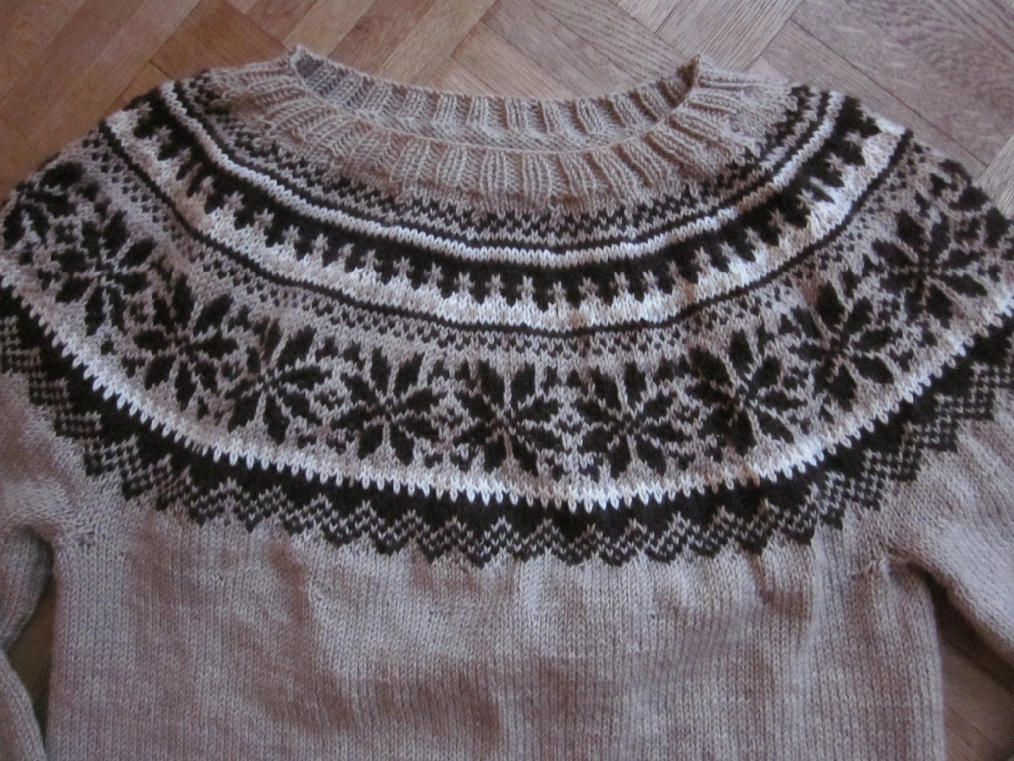 modele tricot jacquard norvegien