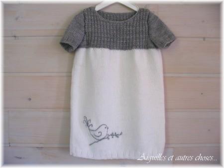 patron gratuit tricot robe 2 ans
