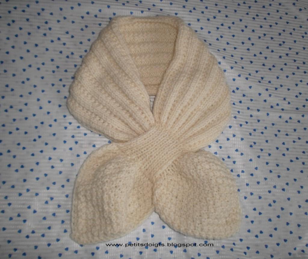 modèle tricot echarpe pour debutant