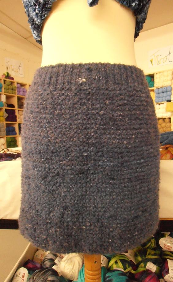 modele tricot jupe en laine
