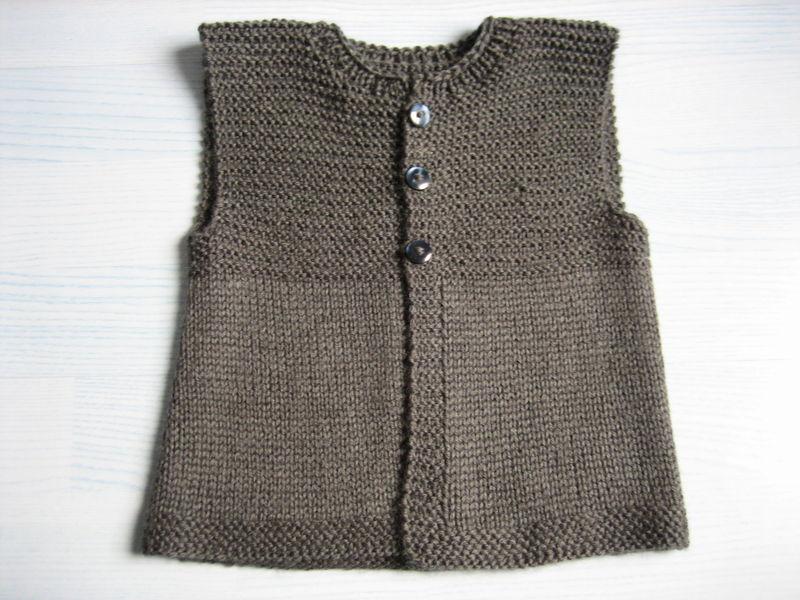 modèle tricot gilet adulte