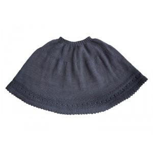 modèle tricot jupe laine