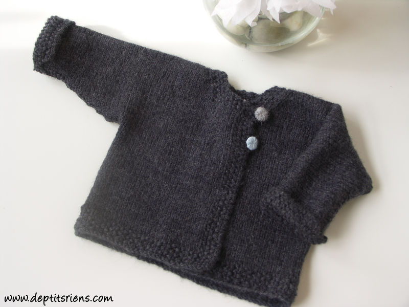 MODELE TRICOT VESTE LAYETTE, Galerie Creation