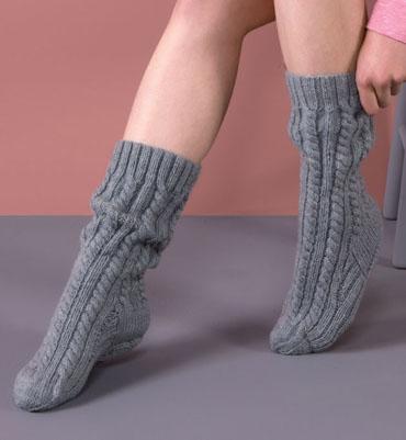 modele tricot chaussettes femmes