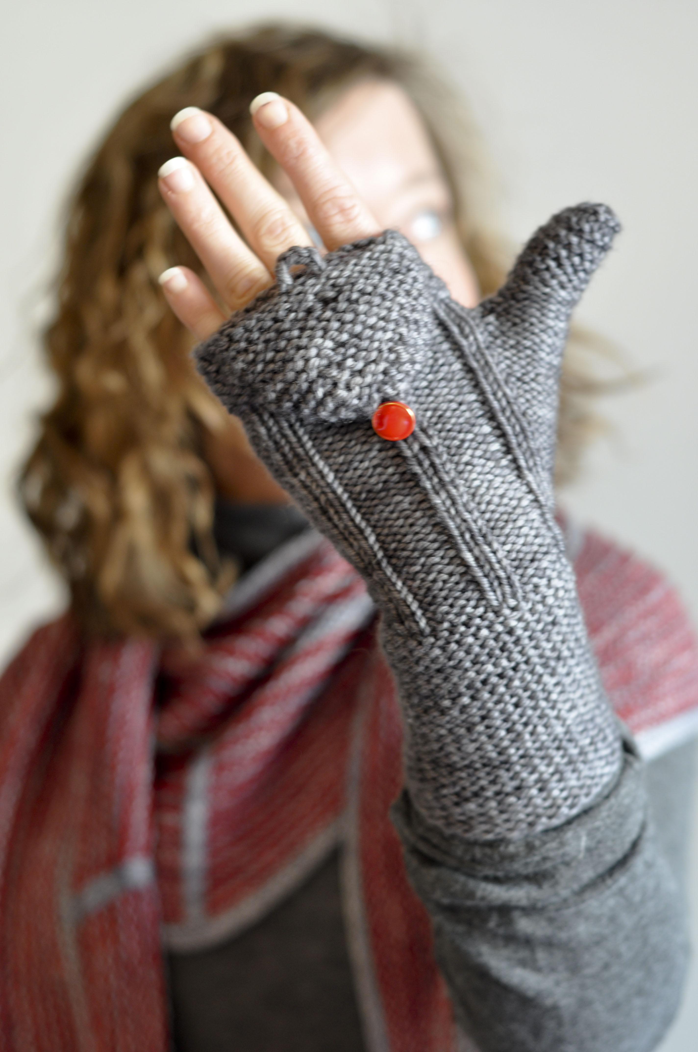 modèle tricot gant adulte