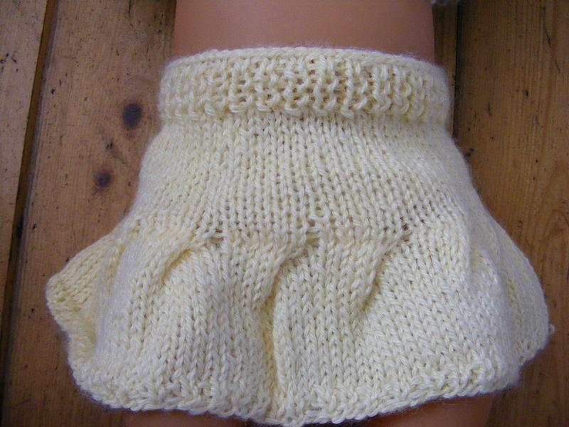 Irrésistibles à tricoter : la robe à volant  par mariecerise