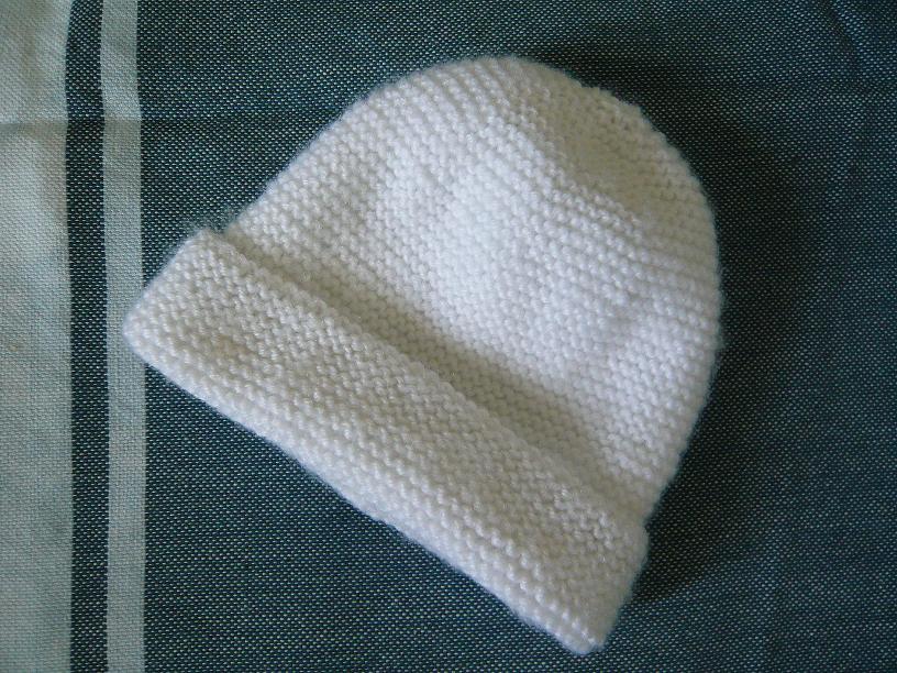 tricot bonnet bebe facile naissance