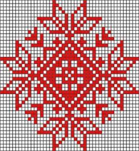 motif jacquard tricot