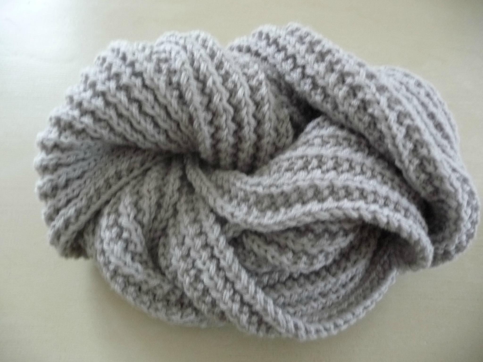 tricoter une echarpe homme debutant