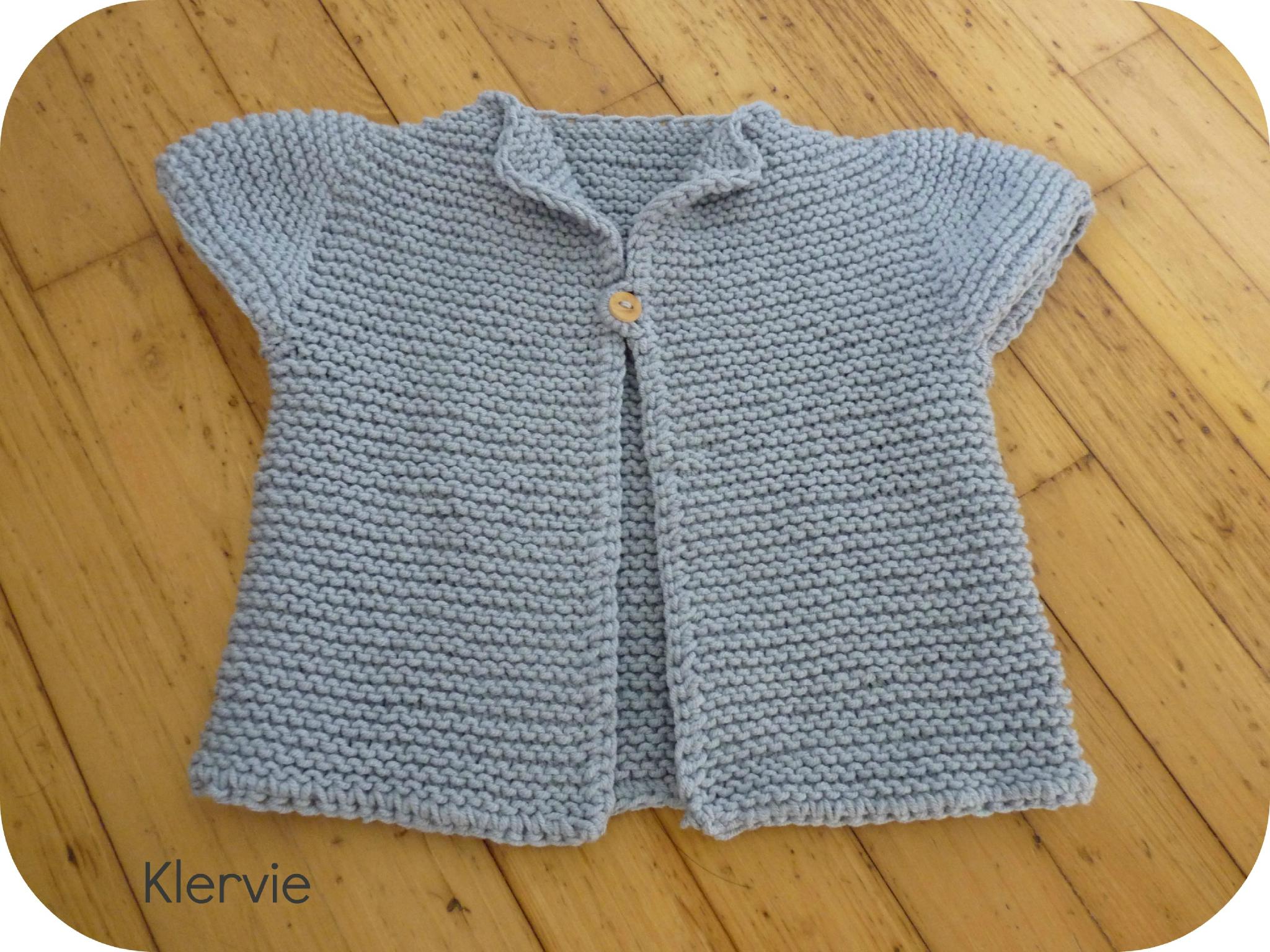 Mod le tricot gilet de berger adulte - Modele tricot aiguille circulaire ...