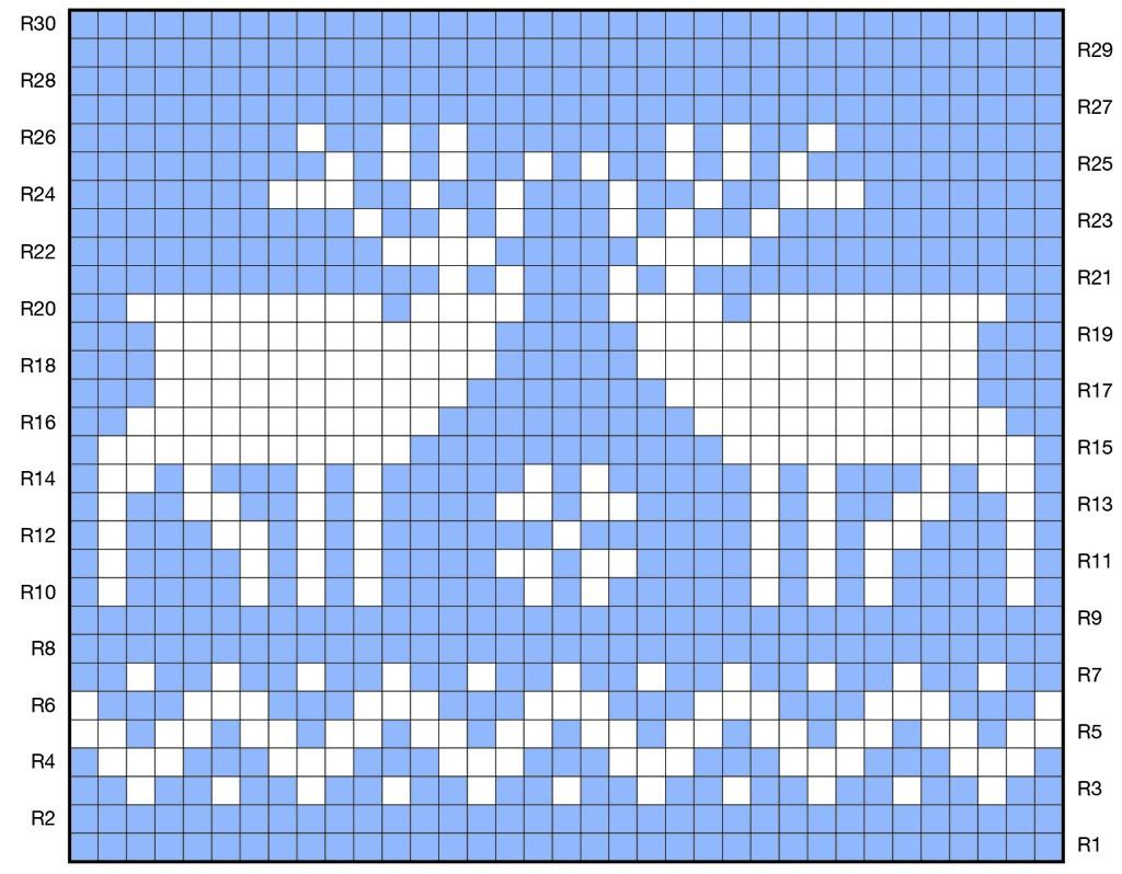 Орнамент олени крючком схемы