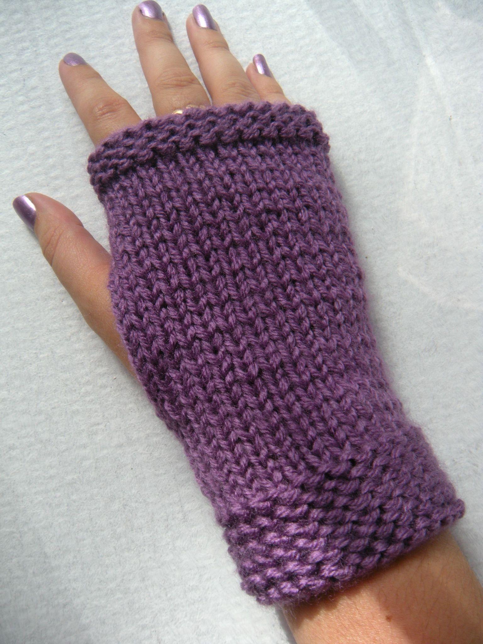 modèle mitaine au tricot