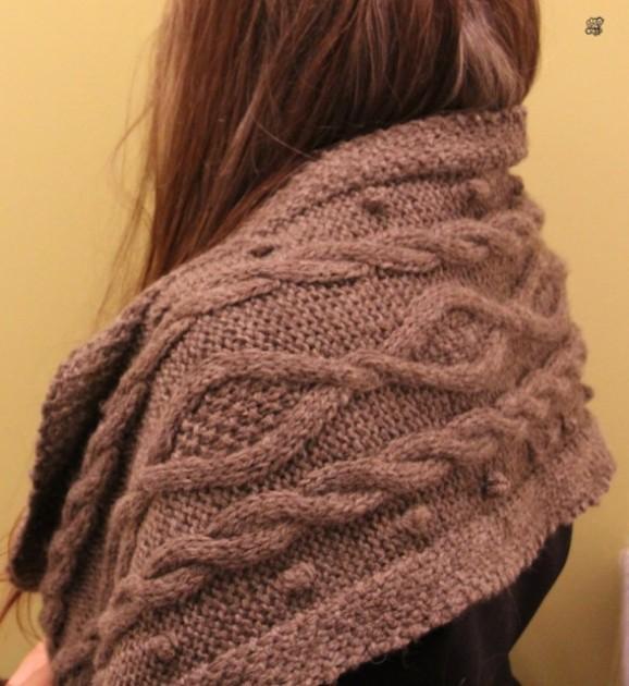 modele tricot echarpe point irlandais