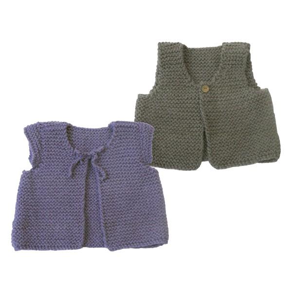 modèle tricot gilet de berger adulte