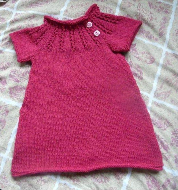 modele tricot gratuit robe 2 ans