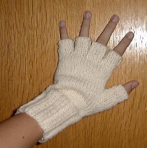 Patron mitaine tricot 2 aiguilles - Cote 2 2 tricot ...