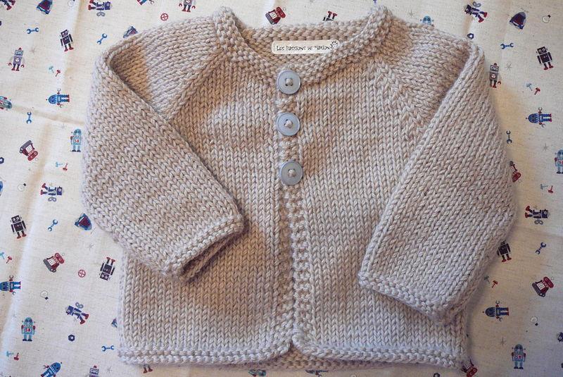 modèle tricot gilet fille 1 an