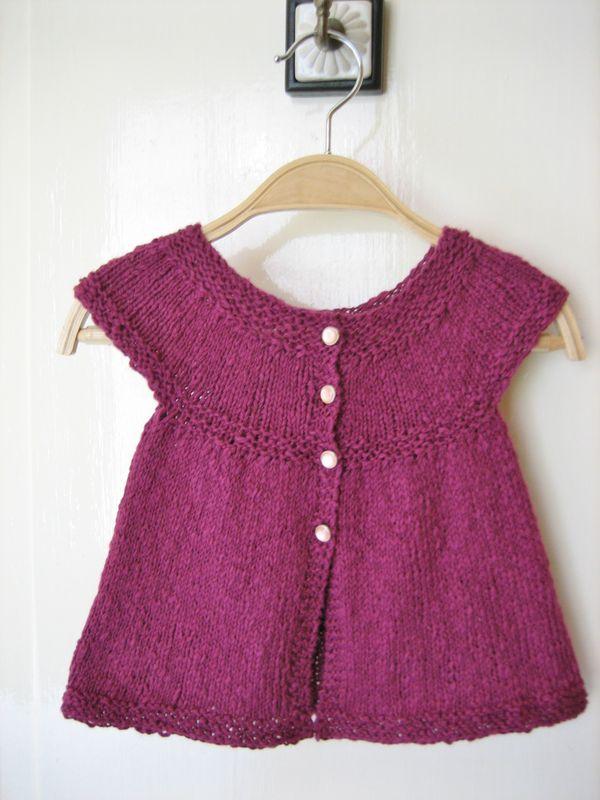 modèle tricot gilet fille gratuit