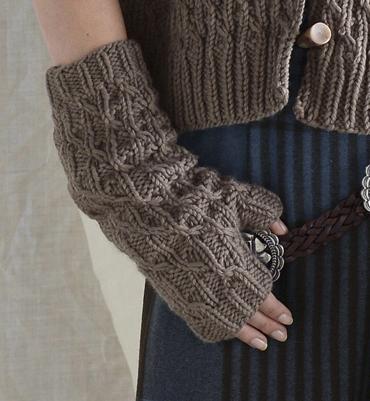 modèle tricot mitaine femme