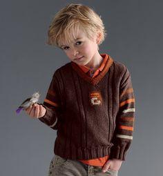 modèle tricot pull col v bébé