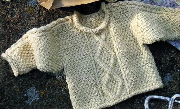 modele tricot pull irlandais bebe