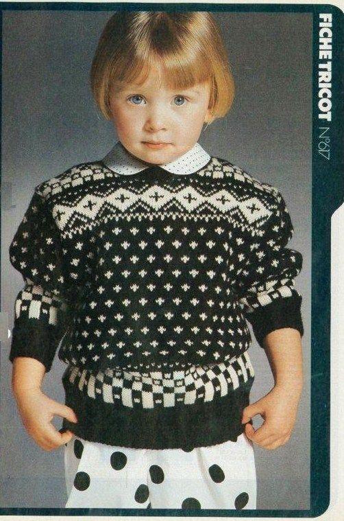 modèle tricot pull jacquard