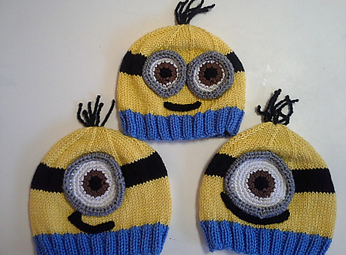 patron tricot tuque minion