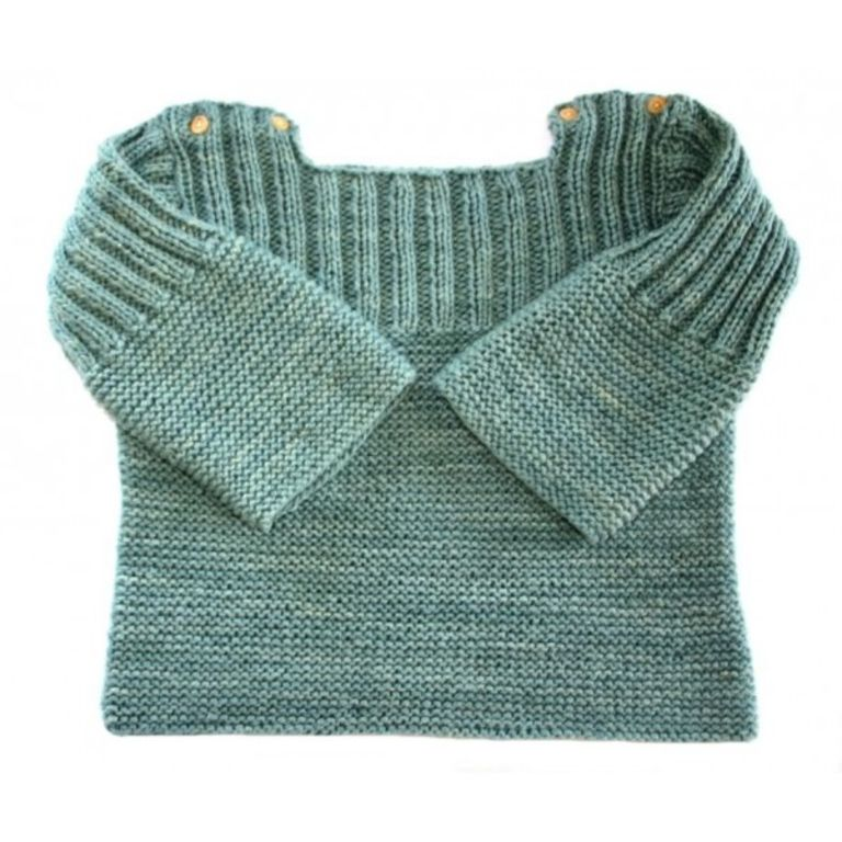 patron tricot pull 2 ans