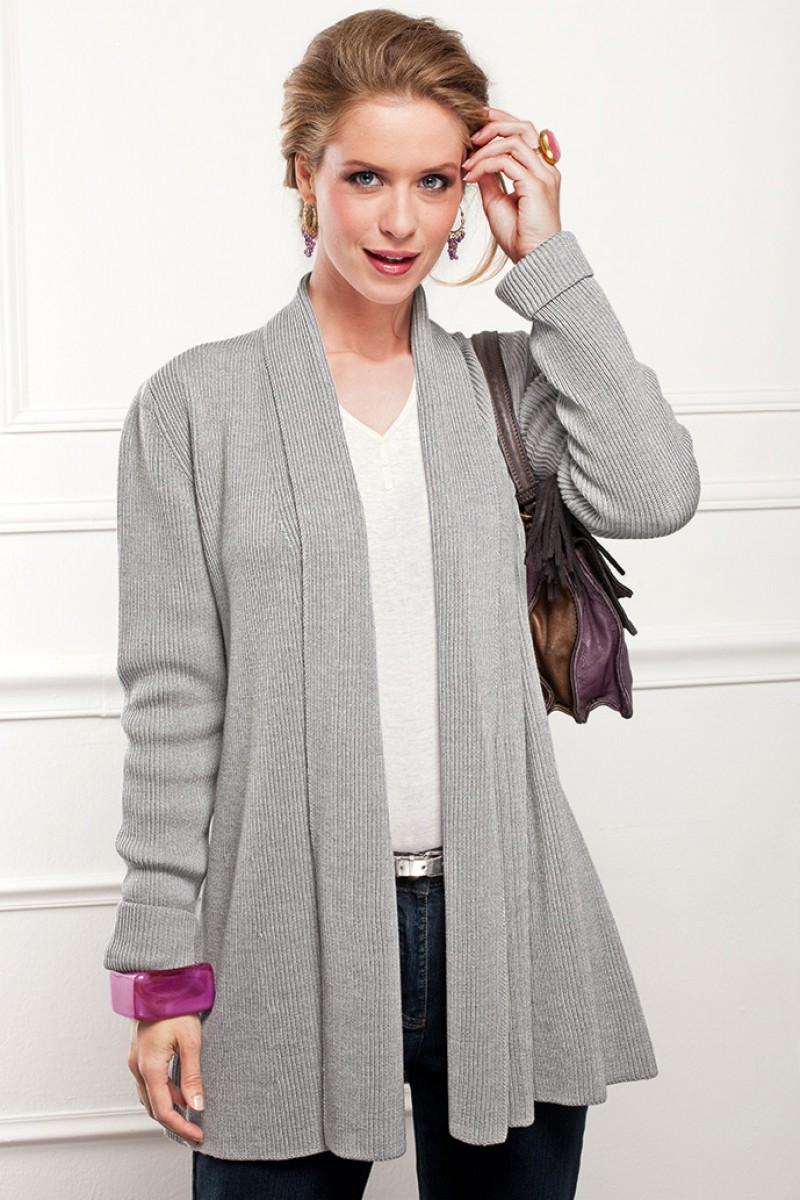 77bd7b8007f3 modèle tricot gilet col chale femme