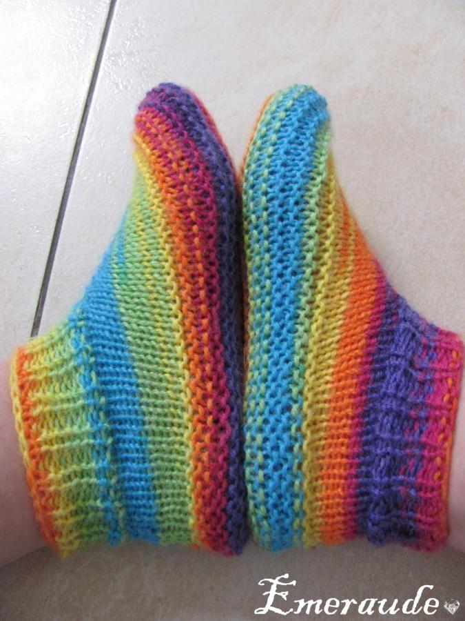 Modèle de tricot gratuit Chaussons Adulte Phentex