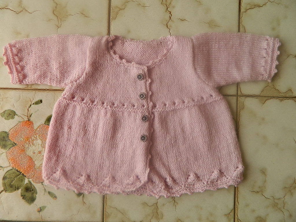 patron tricot layette fille