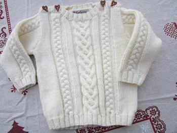 modele tricot irlandais bebe