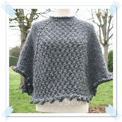 modèle tricot pull poncho