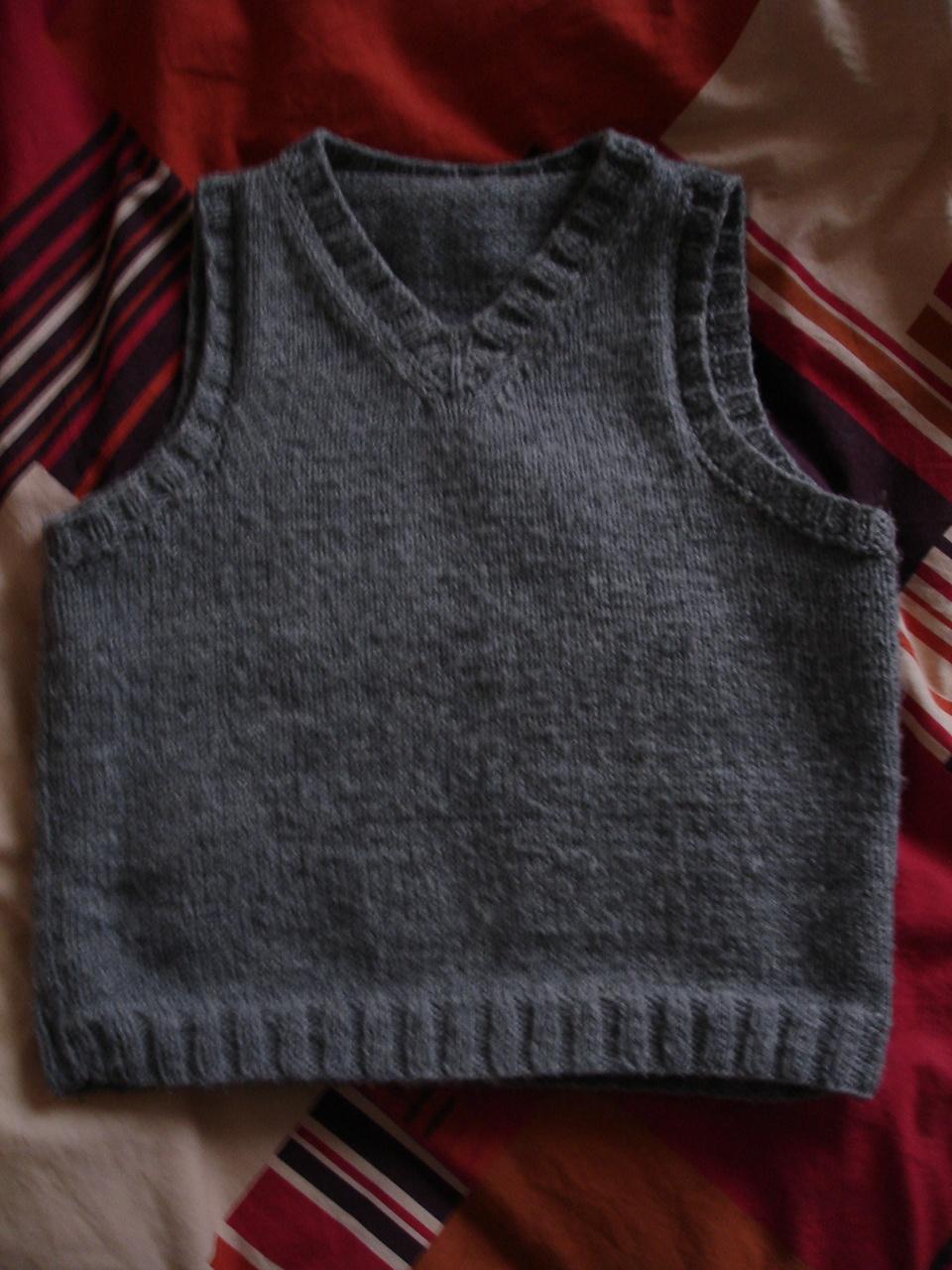 Mod le tricot pull sans manche garcon - Aiguille a tricoter grande longueur ...