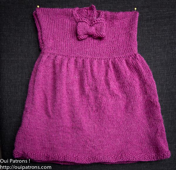 Petite robe en laine pour bebe