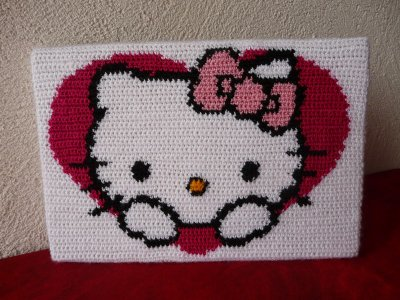 patron tricot tuque hello kitty