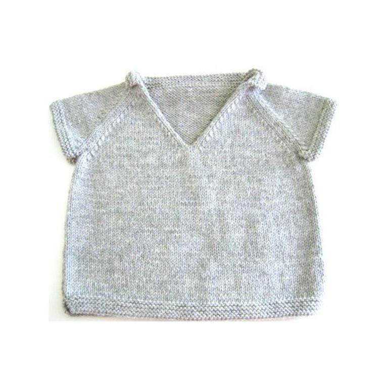 Aper u mod le pull tricot gratuit 2 ans - Aiguille a tricoter grande longueur ...