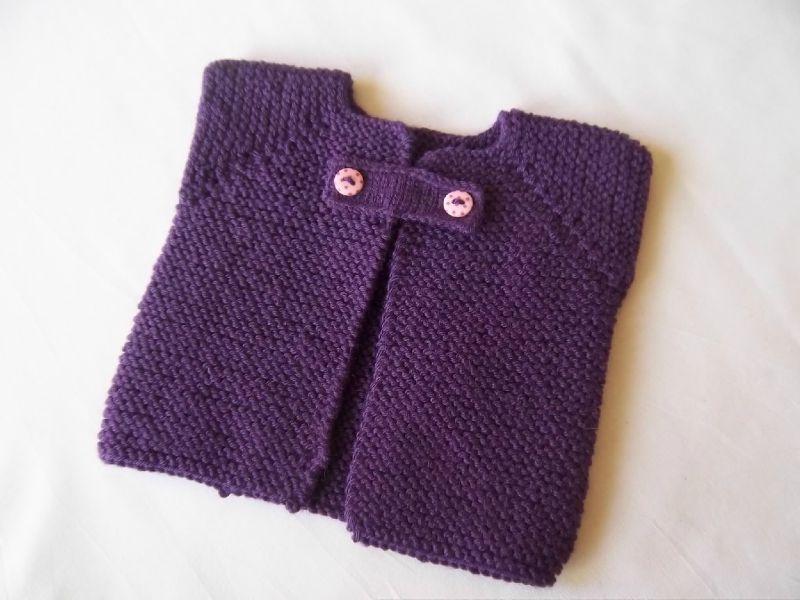 Mod le tricot gilet sans manche b b - Tricot assembler les manches ...