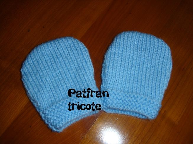 modèle moufles au tricot