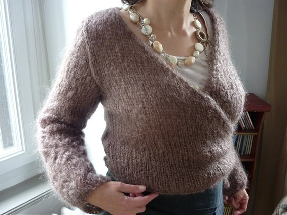 modele tricot femme cache coeur