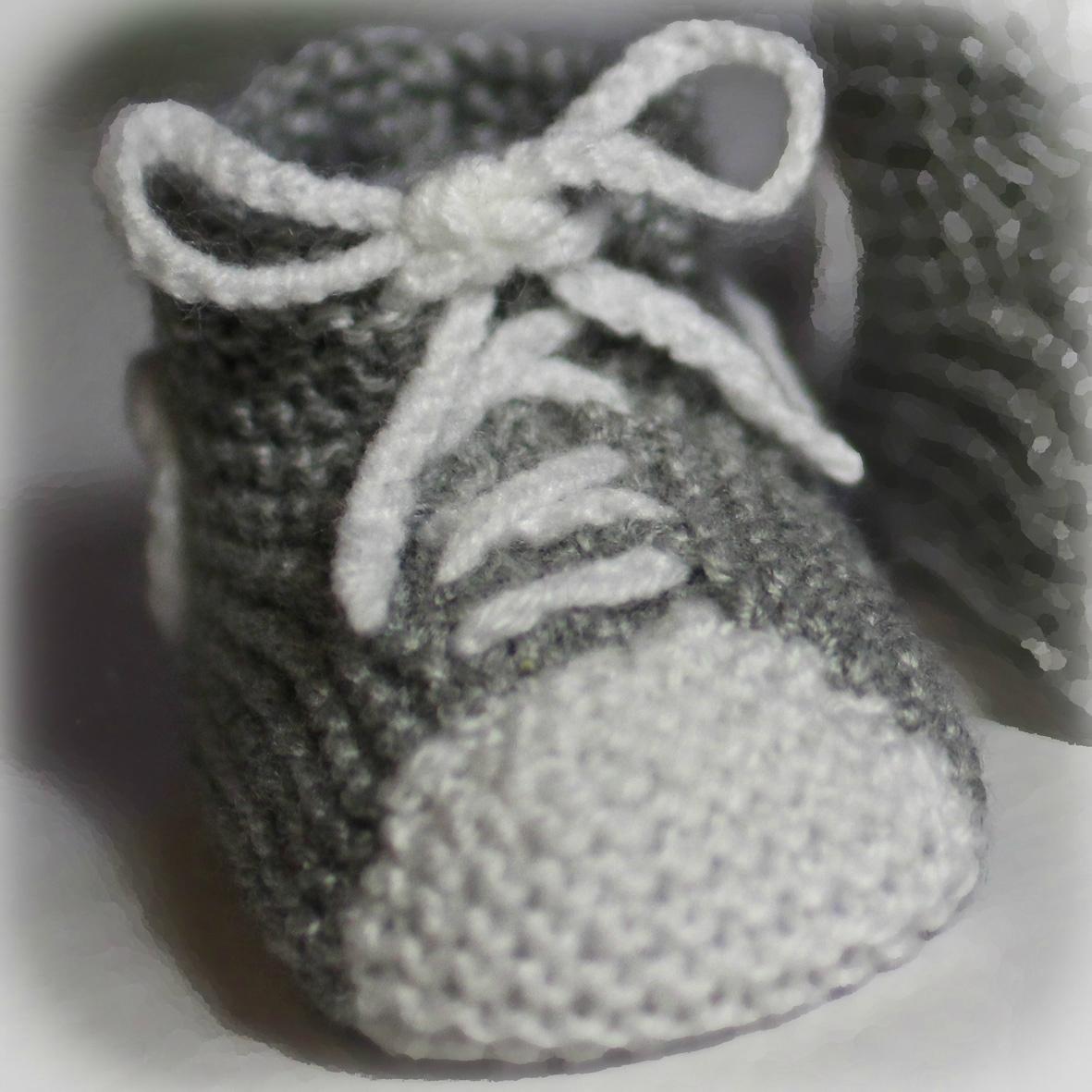 modeles de chaussons a tricoter