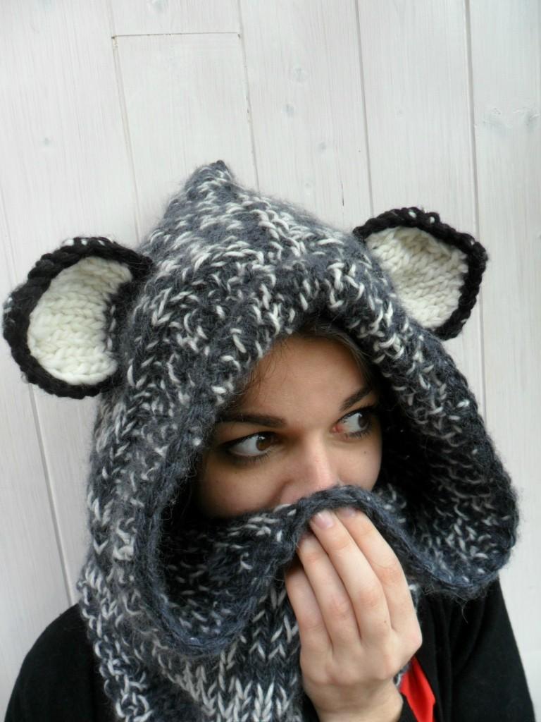 apparence mod le tricot echarpe capuche femme. Black Bedroom Furniture Sets. Home Design Ideas