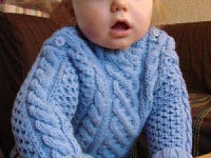 modele gratuit pull irlandais bebe