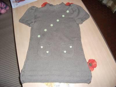 modèle tricot robe tunique
