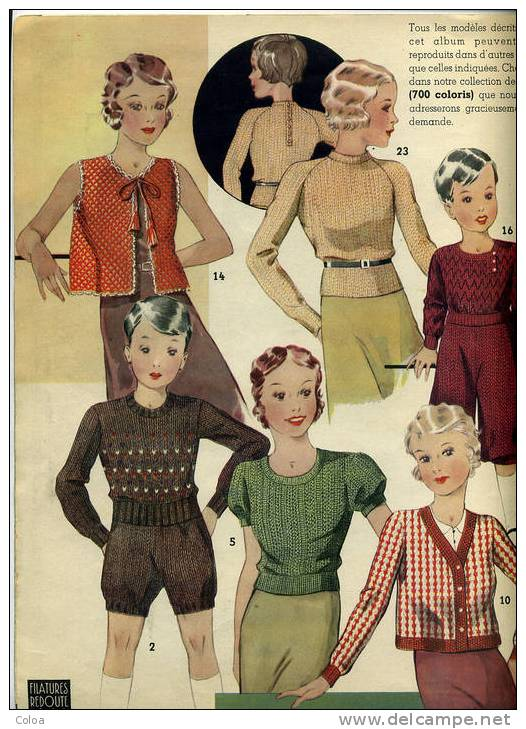 modèle tricot 1950