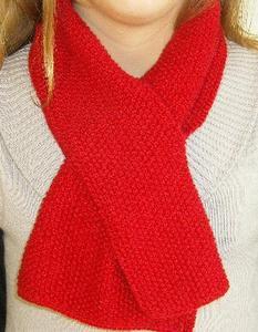tricoter une echarpe avec une fente