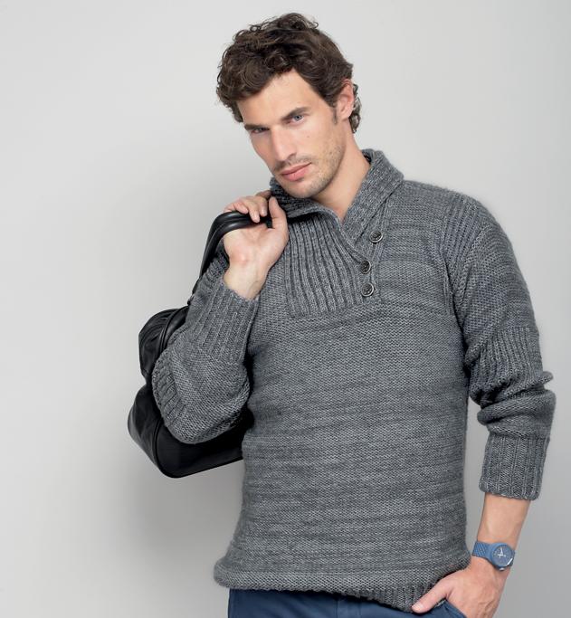 modèle tricot gilet col chale femme