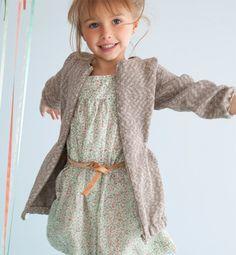 tricoter gilet fille 8 ans