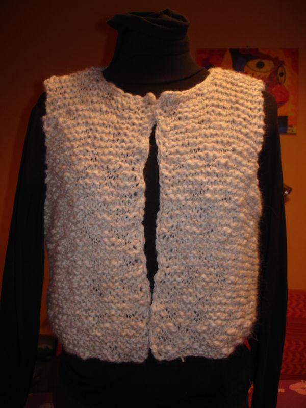 Explication pour tricoter un gilet sans manche