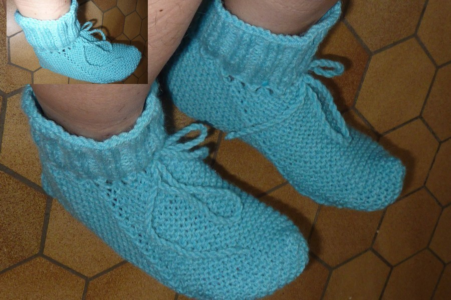 modele de chausson en laine a tricoter
